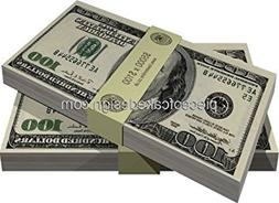 1/4 Sheet ~ Casino Hundred Dollar Bills Birthday ~ Edible Ca