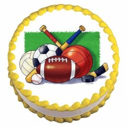 1/4 Sheet - Sports Collage Birthday - Edible Cake/Cupcake To