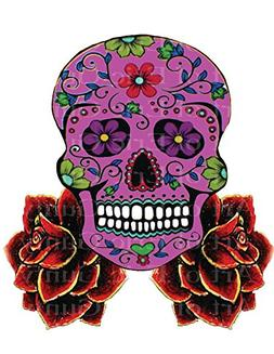 1/4 Sheet - Pink Sugar Skull & Roses Halloween Birthday - Ed