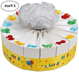 1 Tier Happy Birthday Favor Bags Cake Kit 2 Pack Includes 20