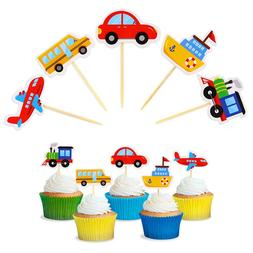 10 Pcs <font><b>Cake</b></font> Toppers Cartoon Lovely Car <