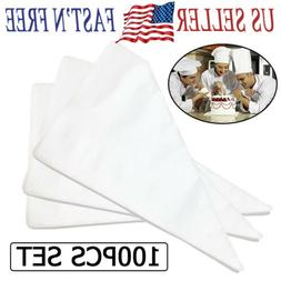 100pcs large disposable pastry bag icing piping
