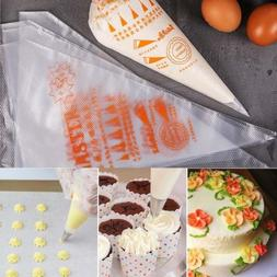 100pcs plastic disposable icing piping pastry bags