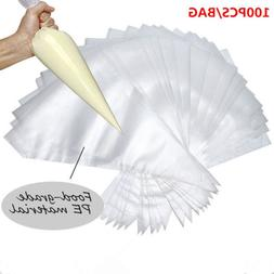 100pcs plastic pastry Piping Bag Disposable Icing Cake Decor