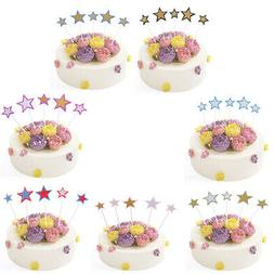 10pcs glitter star cake topper birthday party