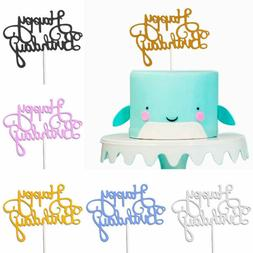 10pcs Paper Cake Dessert Happy Birthday Glitter Cake Topper