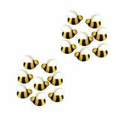 16 Bumble Bee Edible Cupcake Cake Sugar Icing Decorations To