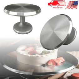 "12"" Cake Stand Baking Tool Decorating Table Turntable Round"