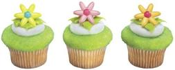 12 ct - Spring Flower Daisy Cupcake Rings