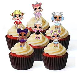 12 LOL Surprise Doll set no.3 PRECUT Edible Cupcake Toppers