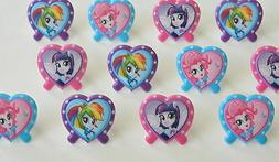 12 My Little Pony Cupcake Rings Topper Kid Bday Party Goody