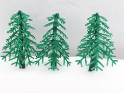 12 Tree Christmas Evergreen Cupcake Toppers Picks Cake Decor