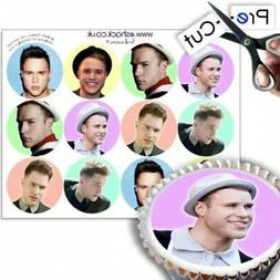 12 x PRE-CUT Assorted Olly Murs Cupcake Cake Toppers Decorat