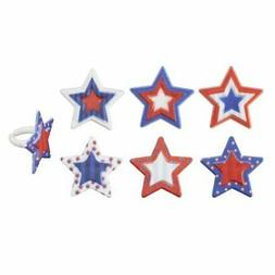 144 PK DecoPac Star Assortment Cupcake Rings Topper Party Fa