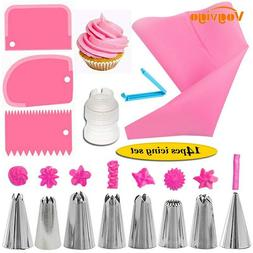 14Pcs Cake Baking Decorating Kit Set Piping Tips Pastry Icin