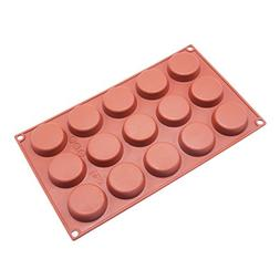 Joy House 15 Cavities Circle Silicone Mold, Nonstick Baking