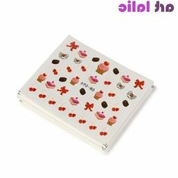 18 Sheets Water Transfer Nail Art Sticker Decals Candy Cake