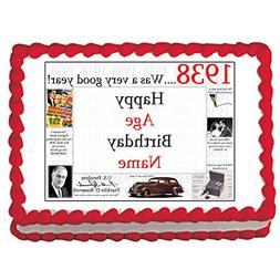 1938 81st Birthday Custom Edible Image  by Partypro