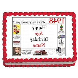 1948 71st Birthday Custom Edible Image  by Partypro