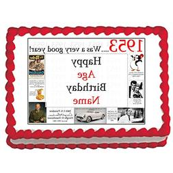 1953 66th Birthday Custom Edible Image  by Partypro