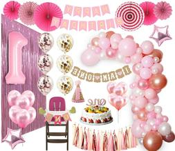 1st Birthday Decorations first Birthday Party Supplies one C