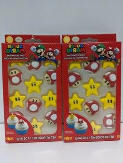 2 Set of Super Mario Icing Decorations for Cupcakes Cake Mus