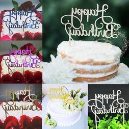 2019 2pcs Cute Cake Topper Happy Birthday Party Supplies Dec