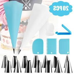 20PC DIY Cream Pastry Bag Piping Nozzle Set Cooking Kitchen