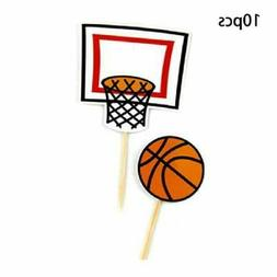 20pcs Basketball Sports Cake Inserted Card Cupcake Toppers B