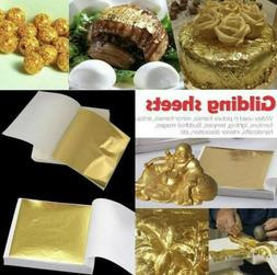 20x edible gold leaf sheets for cakes