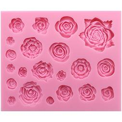 Funshowcase 21 Cavity Roses Collection Fondant Candy Silicon