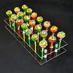 meizhouer 21 Hole Acrylic Cake Pop Clear Stand Decoration Lo