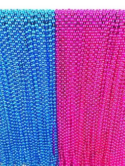 24 Large Gender Reveal Pink and Blue Beads for Baby Shower A