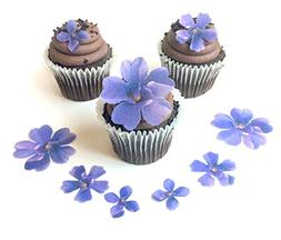 Assorted Purple Wafer Paper Flowers in 3 Different Shapes an