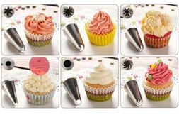 24 Stainless Steel Cake Russian Pastry Icing Piping Nozzles