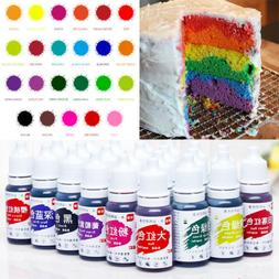 24Colors 10ml Cake Edible Pigment Food Coloring for Chocolat