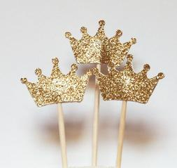 24SET Queen Crown Birthday Cupcake Toppers Party Shower Wedd