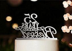 25 Years Blessed Cake Topper, Marriage Anniversary Party Dec