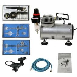 3 Airbrush Auto Mini Air Compressor LowNoise Spray Paint Hob