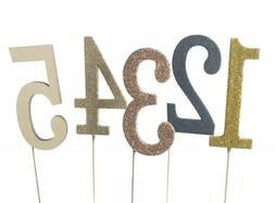 3 inch wooden number glitter cake topper birthday sweet 16 p