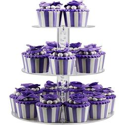 DYCacrlic 3 Tier Acrylic Birthday Cupcake Stand,Tiered Party