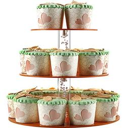 3 Tier Cupcake Stand, Round Cake and Cupcake Stand For Weddi