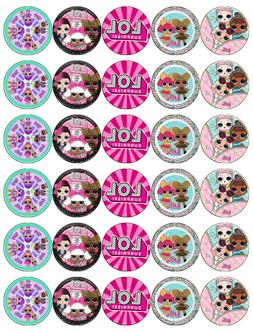 30 x Lol Surprise Dolls Cupcake Toppers Edible