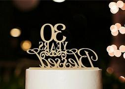 30 Years Blessed Cake Topper, Marriage Anniversary Party Dec