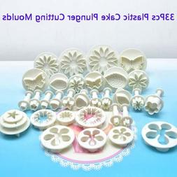 33pcs Pastry Cutters Tools Sugarcraft Cake Decorating Mold F