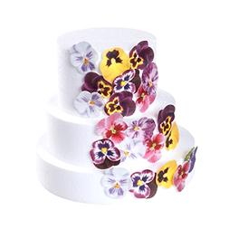 36pcs Edible Pansies Cupcake Toppers & Cake Decoration,Flat