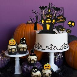 38 Halloween Cake Toppers Pack Creepy Cake Decoration Wizard