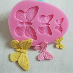 3D Butterfly Cake Decor Mold Silicone Fondant Sugarcraft Cho
