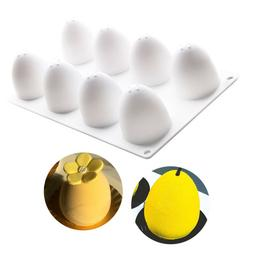 3D Easter Eggs Silicone Molds Cake Decor French Dessert Mous