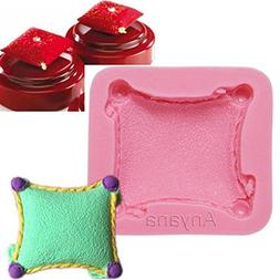 Anyana 3D Pillow cushion mould cake Fondant gum paste mold f